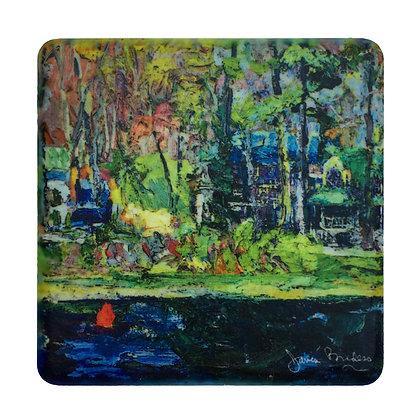 Coaster #4 - Springtime, Kalamazoo River, Saugatuck
