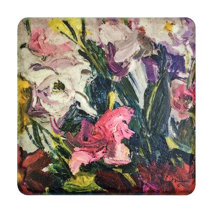 Coaster #3 - Orange Lilies
