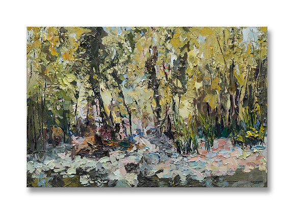 """Early September on the River with a Hint of Autumn (2020) - 24"""" x 36"""""""