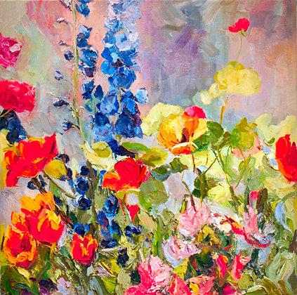Las Flores Brillantes (1995) Hand-Deckled Card