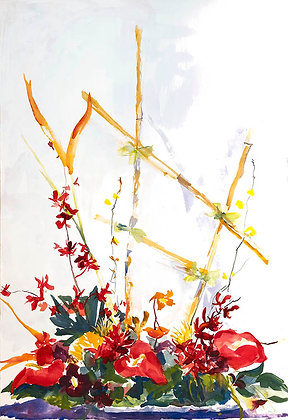 Ikebana II (2018) Hand-Deckled Card