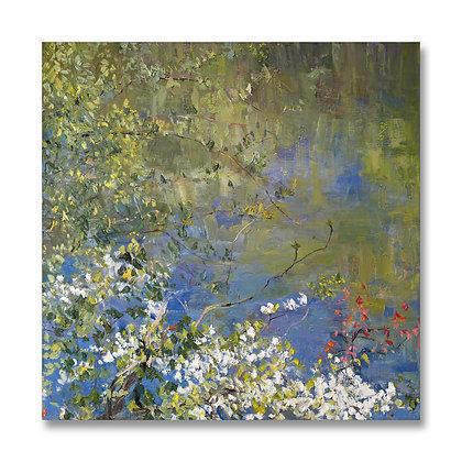 "Dogwood of Spring (2010) Giclée on Canvas - 36"" x 36"""