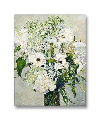 """A White Bouquet (2008) Giclée on Canvas - 25.5"""" x 20"""""""