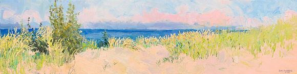 September Morning, Michigan Dunes  Hand-Deckled Card