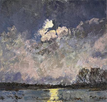 Moon Over the Bayou I (2021) A7 Notecard