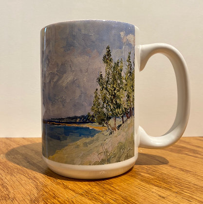Spring on the Bluff at Oval Beach (2017) Mug