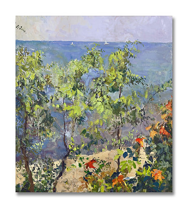 """Afternoon Overlooking Lake Michigan I (2013) Giclée on Canvas - 45"""" x 40"""""""