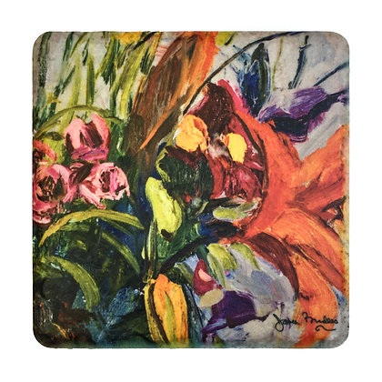 Coaster #4 - Orange Lilies
