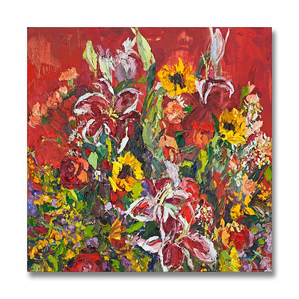 "October Bouquet (2001) Giclée on Canvas - 36"" x 36"""
