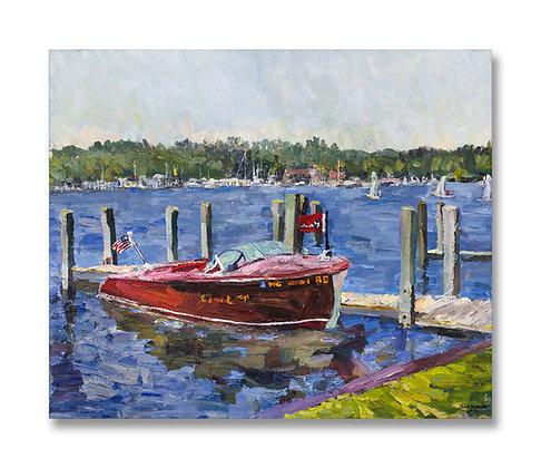 "Late Spring, Kalamazoo River, Saugatuck (2020) Giclée on Canvas - 30"" x 36"""