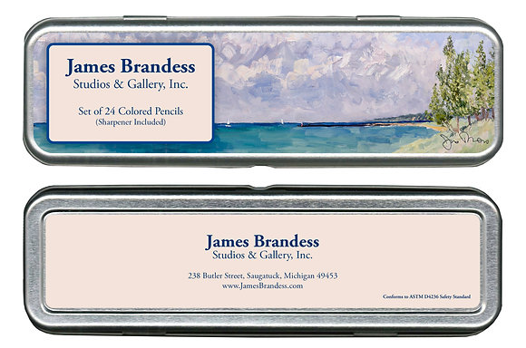 Landscape Colored Pencil Set w/ Sharpener