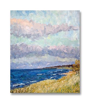 "October, Lake Michigan (2011) Giclée on Canvas - 32"" x 27"""