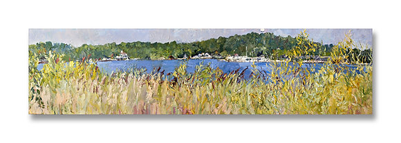 "August into September (2010) Giclée on Canvas - 12"" x 48"""