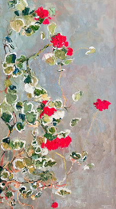 Winter Geraniums II (2010) Hand-Deckled Card