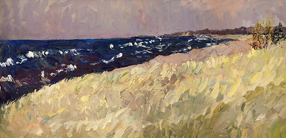 September, Lake Michigan (2012) Textured Giclée on Canvas
