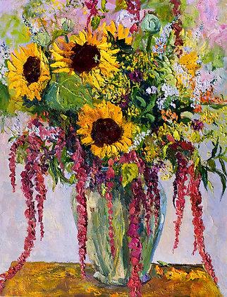 A Midsummer Rasta Bouquet (2009) Hand-Deckled Card