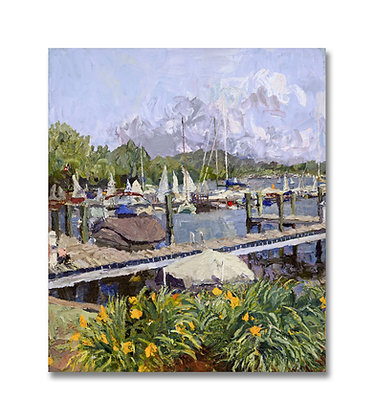 "Saugatuck, Summer Landscape (2014) Giclée on Canvas - 27"" x 23"""
