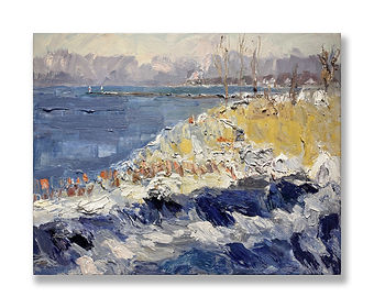 """Winter Blues, Saugatuck"" (2021) by James Brandess"
