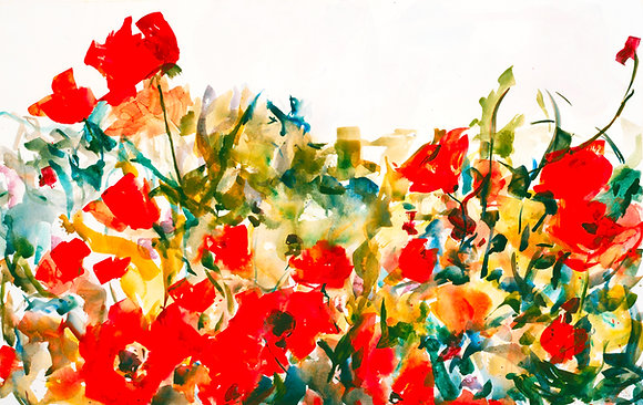 Poppies (1998) A7 Notecard