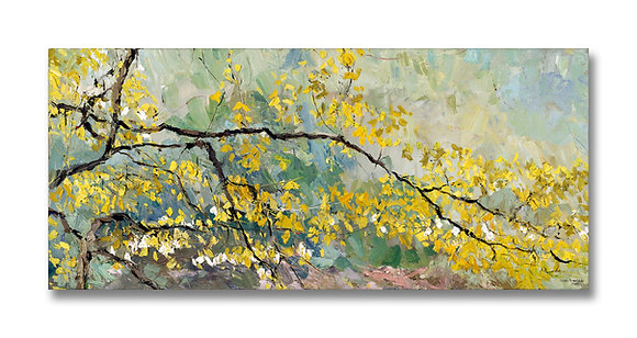 """Turning into Spring (2004) Giclée on Canvas - 20"""" x 44.75"""""""