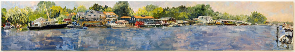 Kalamazoo River, Saugatuck, Michigan Hand-Deckled Card