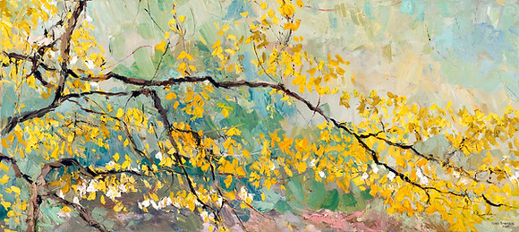 Turning into Spring (2004) Textured Giclée on Canvas