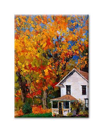 """""""Two Oaks in Autumn"""" Magnet"""
