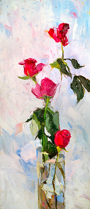 Winter Roses (1999) Hand-Deckled Card