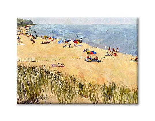 """""""Oval Beach Summer"""" Magnet"""