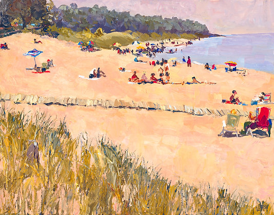 Oval Beach, Facing South, Late Spring, Saugatuck, Michigan (2007) A7 Notecard)