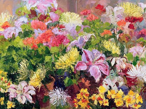 Studio Spring Flowers (2009) Hand-Deckled Card