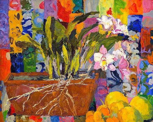 Tropical Still-Life II (2012) Hand-Deckled Card