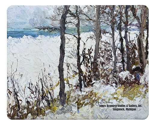 Overlooking Lake Michigan, South of Pier Cove (2015) Mouse Pad