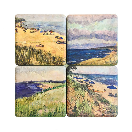 Saugatuck Beaches Coaster Set
