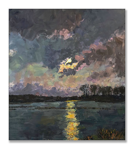 """Moon Over the Bayou II"" (2021) by James Brandess"