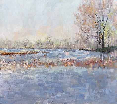 """Spring on the Bayou (2020) Giclée on Canvas - 40"""" x 45"""""""