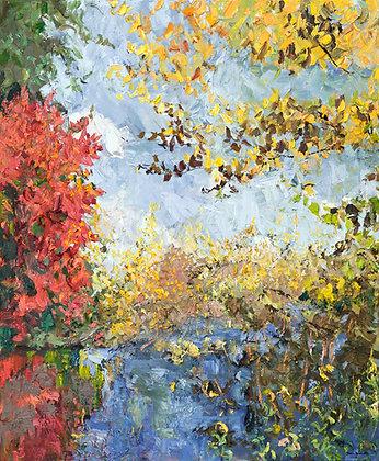 Autumn Splendor (2014) Hand-Deckled Card