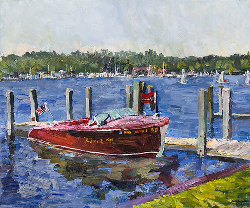 "Late Spring, Kalamazoo River, Saugatuck (2020) Giclée on Canvas - 30"" x 36"""