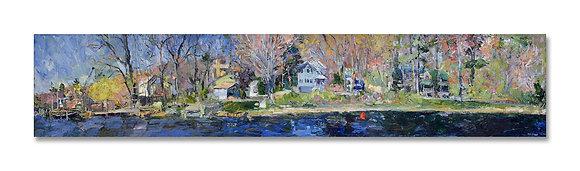 "Springtime, Kalamazoo River, Saugatuck (2003) Giclée on Canvas - 12"" x 60"""
