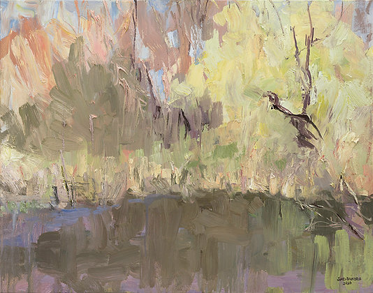 Spring Light on the Bayou (2020) Hand-Deckled Card