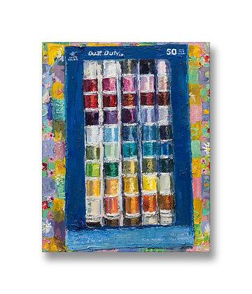 """Box of Thread (2020) Giclée on Canvas - 20"""" x 16"""""""