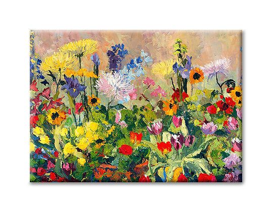 Spring Flowers in the Studio Magnet