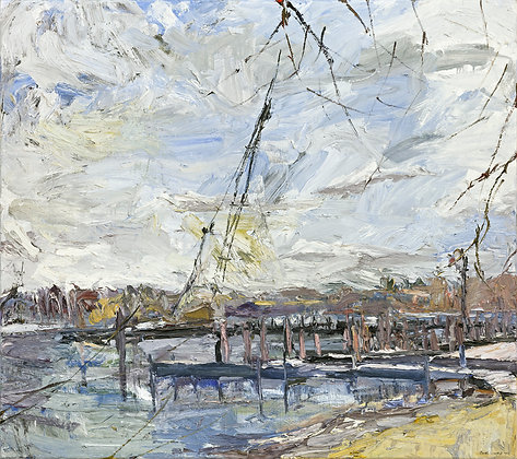 Early Spring, Saugatuck (1999) Textured Giclée on Canvas