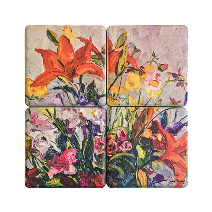 Orange Lilies (1996) Coaster Set