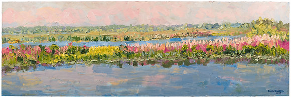 Late Summer Marsh Hand-Deckled Card