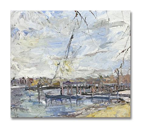 "Early Spring, Saugatuck (1999) Giclée on Canvas - 40"" x 45"""