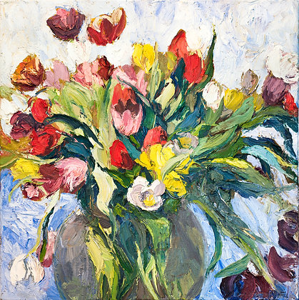 Tulips in a Vase (1998) A2 Notecard