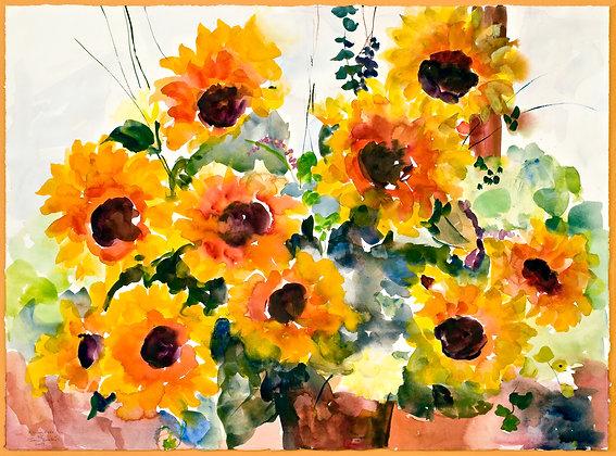 A Sunny Medley (2008) Hand-Deckled Card