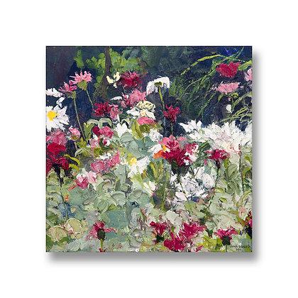 """Butterflies In My Garden (2011) Giclée on Canvas - 18"""" x 18"""""""