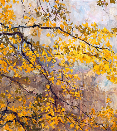 """Early Summer, Allegan Woods (2004) Giclée on Canvas - 30"""" x 27"""""""